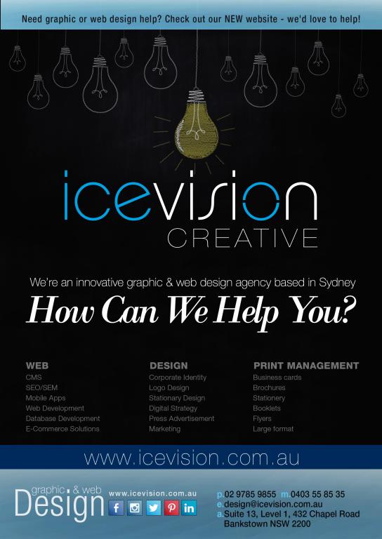 Ice vision graphic design sydney printing sydney australia new ice vision creative graphic web design sydney reheart Images