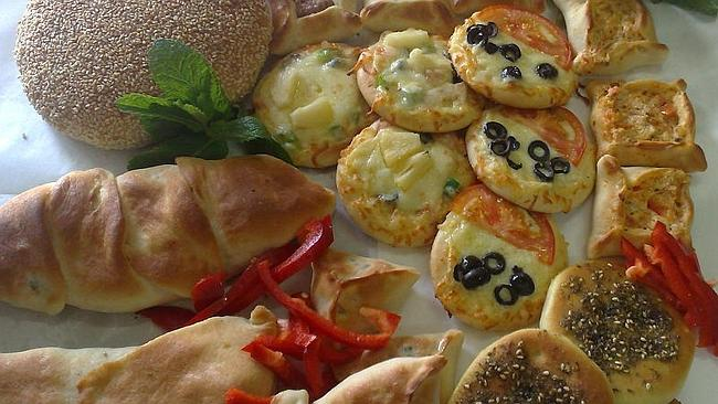 Spinach and cheese, kaak and spinach pie in Kings Lebanese Bakery and Pizza, Riverwood.