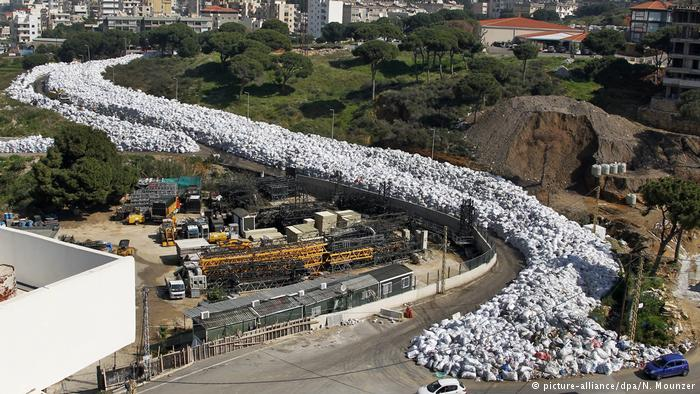 Garbage has piled up, even along streets, in Beirut's waste crisis