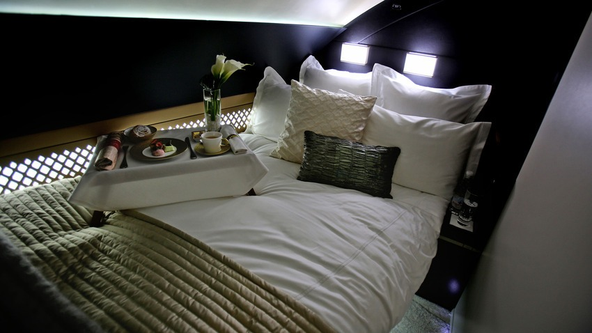 An airplane bedroom fit for a king