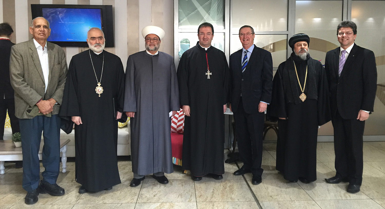 Religious leaders with Tio Faulkner of Marriage Alliance and Greg Smith