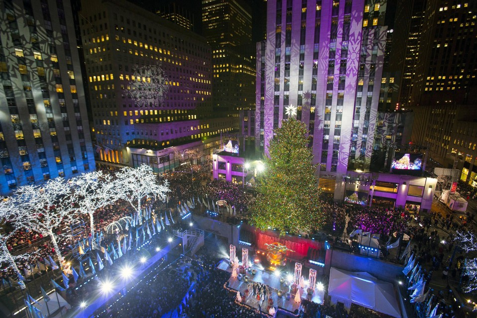 Christmas-tree lighting at Rockefeller Center in New York City