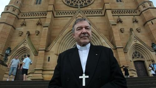 Cardinal George Pell at St Mary Cathedral. Picture: Ella Pellegrini. Source: The Sunday Telegraph