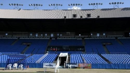 Looking good: the refurbished main stand at Belmore Oval. Picture: Damian Shaw Source: The Daily Telegraph