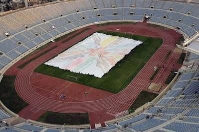 Lebanon Gets Guinness World Record for Biggest Handprint Painting