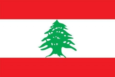 The Lebanese flag, with the Lebanon Cedar in the middle