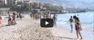 REPORT: In Lebanon, some people ski, others swim in one day (video)