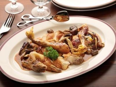Chicken fricassee from Restaurant Hubert
