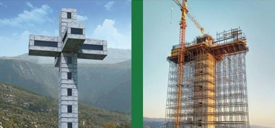 Lebanese build biggest inhabitable Cross in the Middle East