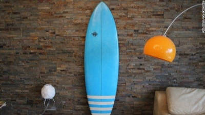 Abbas customised surfboards.