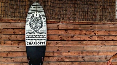 Abbas' customised surboards