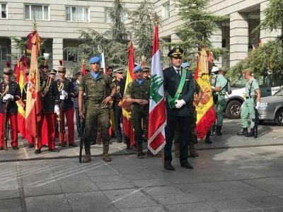 Spanish army honors Lebanese solidarity