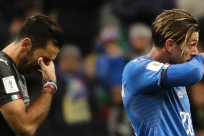 Italy fail to qualify for World Cup following draw with Sweden