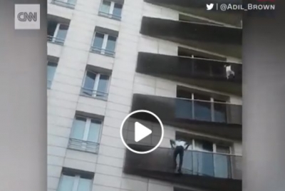 Video: Real life 'Spider-Man' saves boy dangling from Paris balcony, awarded French citizenship