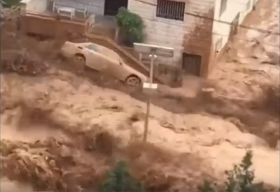 Incredible flood in Baalbeck, Lebanon (Videos)