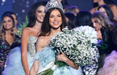 Maya Reaidy crowned Miss Lebanon 2018, in Beirut, Sept. 30, 2018. (The Daily Star/Mohammad Azakir)
